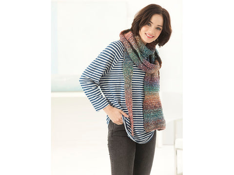 Demeter Super Scarf in Lion Brand Homespun (L60211)