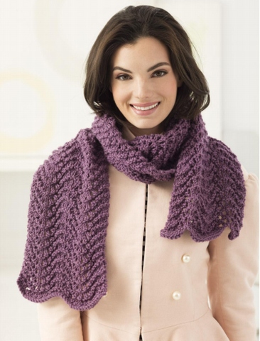 Lacy Scarf Knit in Lion Brand Vanna's Choice (L60340)