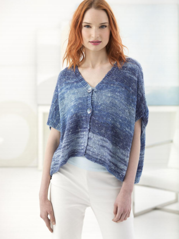 Lion Brand® Shawl in a Ball® Easy Breezy Cardi (Knit) (L70069)