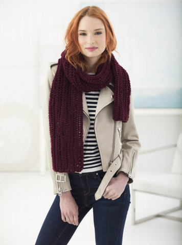 Lion Brand® Vanna's Choice® Crowley Lace Scarf (Knit) (L70096)