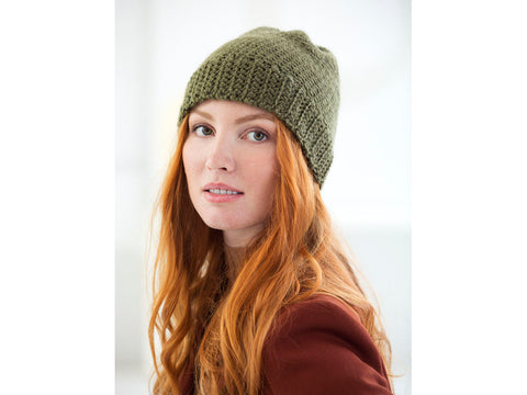 Iconic Cap Crochet Kit and Pattern in Lion Brand Yarn (L70199)