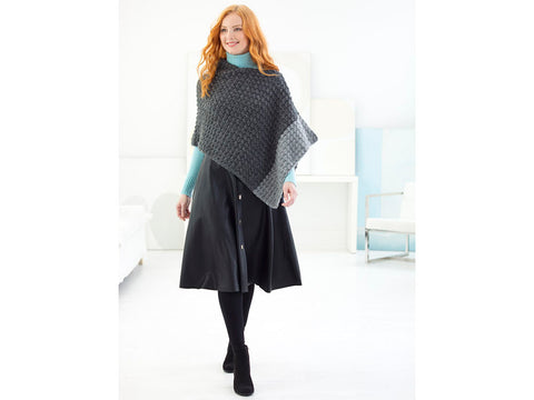 Dyker Heights Poncho in Lion Brand Touch of Alpaca (L70201)