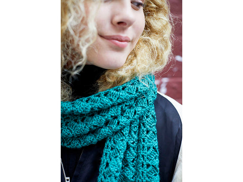 Asheville Scarf Crochet Kit and Pattern in Lion Brand Yarn