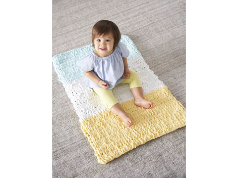 Dexter Baby Blankie Crochet Kit and Pattern in Lion Brand Yarn (L80144)
