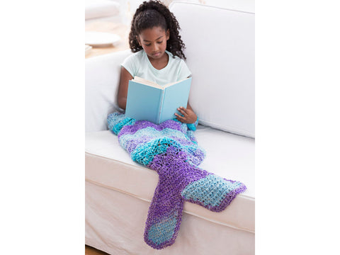 Mini Mermaid Cocoon Crochet Kit and Pattern in Lion Brand Yarn (L80149)