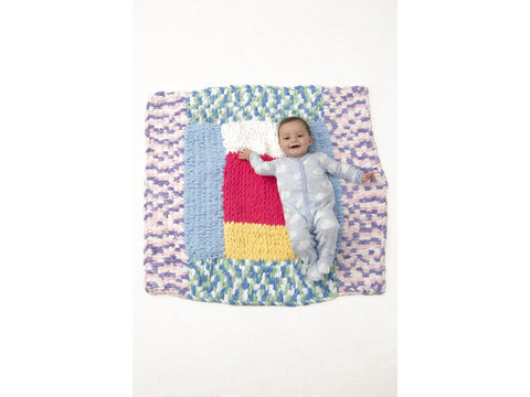 Patchwork Baby Blanket in Lion Brand Off The Hook (L80258)