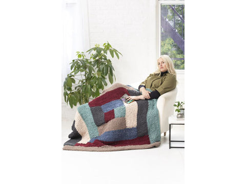 Milo Blanket Crochet Kit and Pattern in Lion Brand Yarn (L80261)