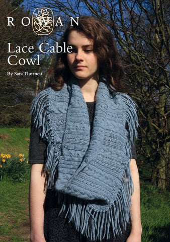Lace Cable Cowl by Sara Thornett-Deramores