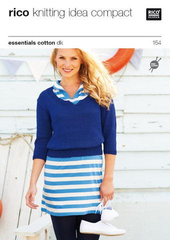 Ladies Tops in Essentials Cotton DK - 154 - Digital Version