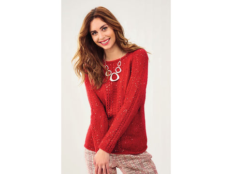 Let's Knit Glitzy Jumper in King Cole Galaxy DK