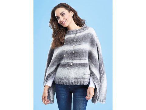 Let's Knit Winter Poncho in Stylecraft Cosy Chunky