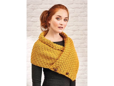 Let's Knit Warm Glow Cowl in Deramores Studio Chunky