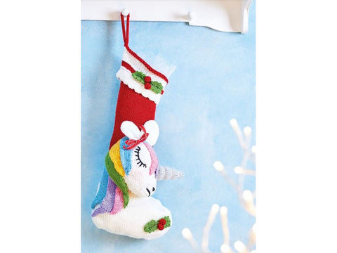 Let's Knit Christmas Magic (Unicorn Stocking) in Deramores Studio DK