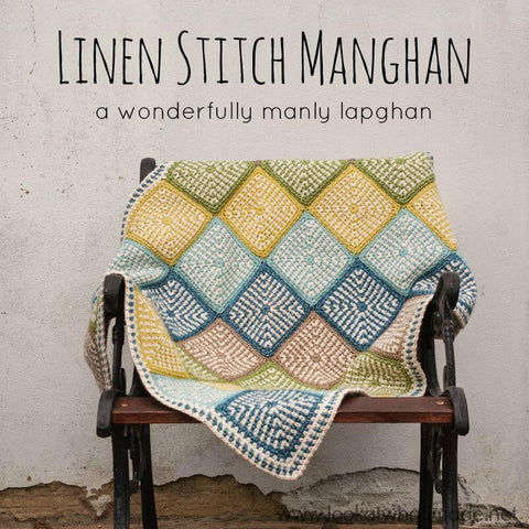 Linen Stitch Manghan - Scheepjes Stone Washed XL - Blanket Yarn Pack