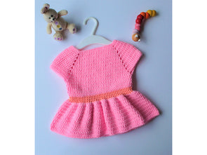 Little Pink Dress by Veronika Cromwell in Deramores Studio Baby DK