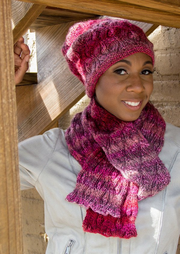 Livorno Scarf and Hat by Cornelia Hamilton-Deramores