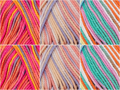 Lollipop Swirl Colour Pack in Schachenmayr Catania Color
