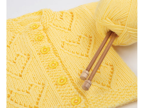 Love Hearts Cardigan in Deramores Studio Baby DK