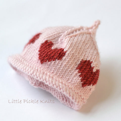 Little Heart Baby Beanie by Linda Whaley - Digital Version