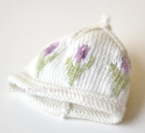 Little Tulip Baby Beanie by Linda Whaley - Digital Version