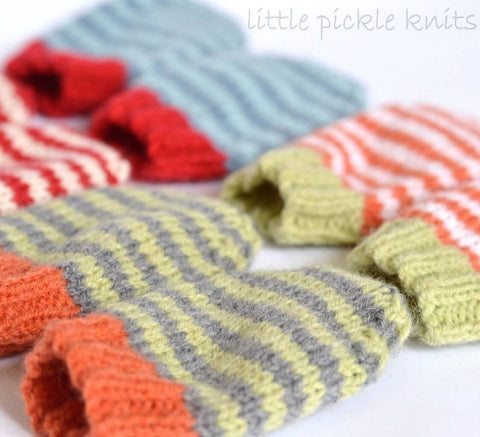 Stripe Baby Mitts by Linda Whaley - Digital Version