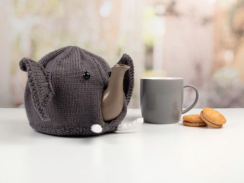 Elephant Tea Cosy by Jane Burns in Deramores Studio DK