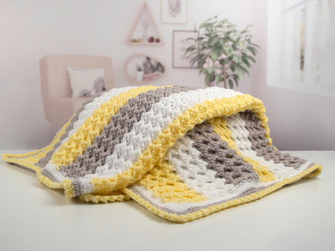 Honeycomb Baby Blanket by Val Pierce in Deramores Studio Baby DK
