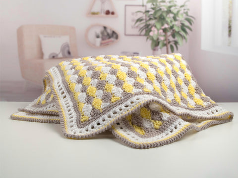 Scallop Shells Baby Blanket by Val Pierce in Deramores Studio Baby DK