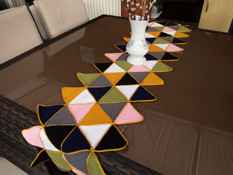 Triangle Table Runner Crochet Kit and Pattern