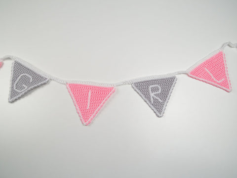 'It's A Girl/Boy' Bunting Crochet Kit and Pattern