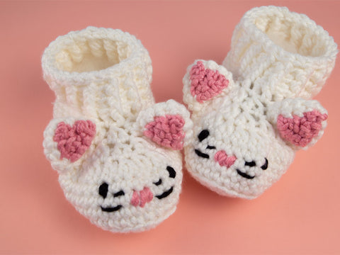 Cat Booties Crochet Kit and Pattern
