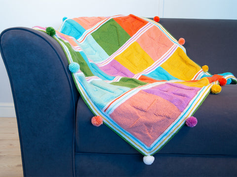 Bright Blocks Baby Blanket Knit-Along by Lynne Rowe in Deramores Studio Baby Soft DK