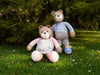 Big Brother, Little Sister Teddy Bears Knitting Kit and Pattern in Deramores Yarn