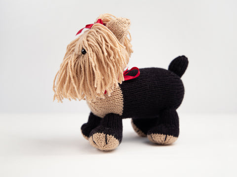 Coco The Yorkshire Terrier Dera-Dog Knitting Kit and Pattern in Deramores Yarn