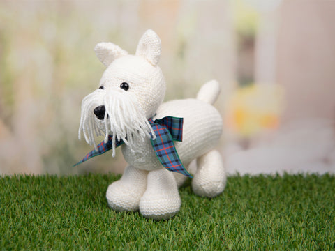 West Highland Terrier - Dera-Dogs Knitting Kit and Pattern in Deramores Yarn