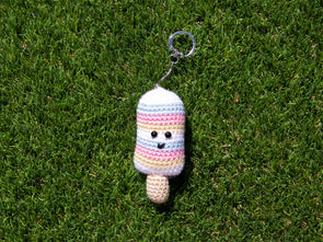 Sweet Stripes Keyring Crochet Kit and Pattern in Dermores Yarn