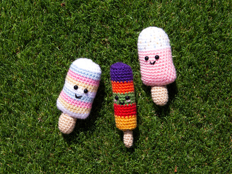 Ice Lollies Crochet Kit and Pattern in Deramores Yarn