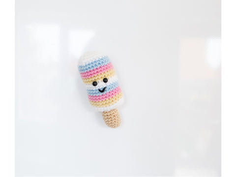 Sweet Stripes Fridge Magnet Crochet Kit and Pattern in Dermores Yarn