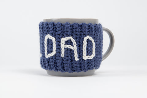 No.1 Dad Mug Cosy by Sarah-Jane Hicks in Deramores Studio DK