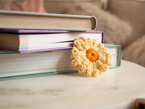 Flower Bookmarks Crochet Kit and Pattern in Deramores Yarn
