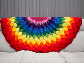 Rainbow Mandala Entrelac Blanket Knit-Along Kit in Deramores Yarn