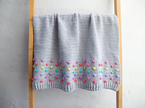Polka Dot Bobble Blanket Crochet Kit and Pattern in Deramores Yarn