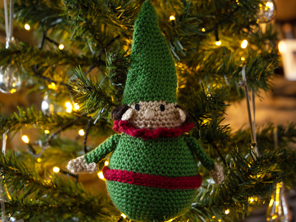 Novelty Christmas Baubles Crochet Kit and Pattern in Deramores Yarn