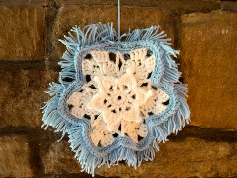 Snowflake Wall Hanging Crochet Kit and Pattern in Deramores Yarn