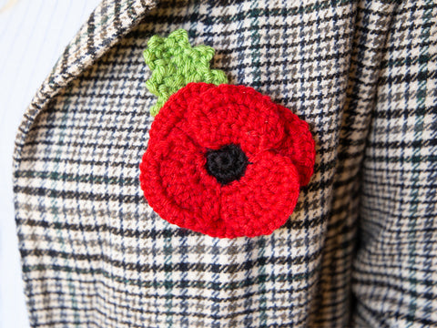 Crochet Poppy Brooch Kit