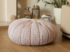 Knitted Pouffe Knitting Kit and Pattern in Deramores Yarn