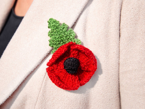 Knitting Poppy Brooch Kit
