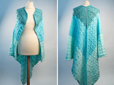 Fishtail Shawl by Ruth Dorrington in Deramores Studio DK