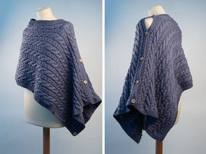 Ladies Versatile Wrap Knitting Kit and Pattern in Deramores Studio Aran Yarn