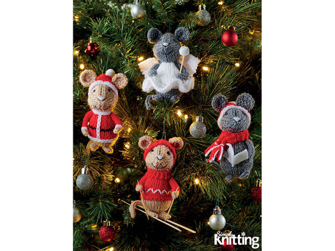 Simply Knitting Mice Decorations by Amanda Berry in Hayfield Bonus DK